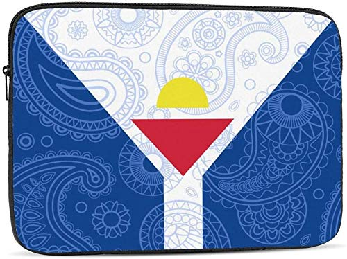 Ecuador Paisley Flag Laptop Sleeve Bag Compatible with 10-17 Inch Funny Computer Bag Laptop Case-French Saint Martin Paisley Flag,13inch