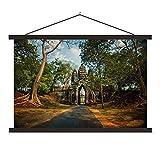 Textil Poster Angkor Wat - Haupteingang des Angkor Wat
