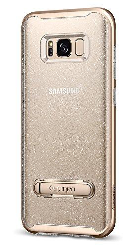 Spigen Funda Galaxy S8, Carcasa [Crystal Hybrid Glitter] Water-Mark Libre TPU y Metal magnético Kickstand para Galaxy S8 (2017) - Gold Quartz
