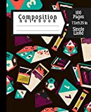 Composition Notebook: A Godly RPG Composition Notebook with 100 Single Lined Pages for Kids to Write at School   7.5x9.25 inch Roll Journal