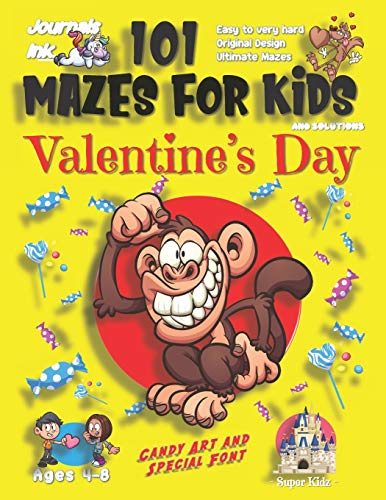101 Mazes for Kids: SUPER KIDZ Book. Children - Ages 4-8 (US Edition). Cute Custom Candy Art Interior. 101 Puzzles & Solutions. Silly Smiling Monkey. ... a fun activity gift!: 18 (Superkidz - MJ20)