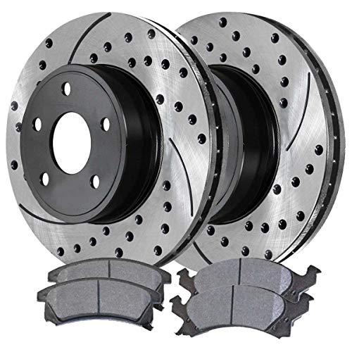 Auto Shack SCDPR65826582673 Front Ceramic Brake Pad and Performance Rotor Bundle (Brake Pads Chevy Cavalier)