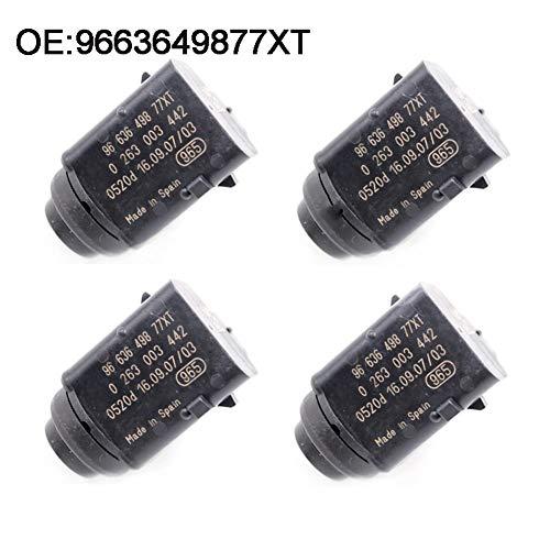 KEXQKN Preciso y Duradero, 4PCS Original Aparcamiento PDC Sensor for Peugeot 407 SW Citroen Renault 0263003442 9650935277 9663649877XT Duradero (Color : Black)