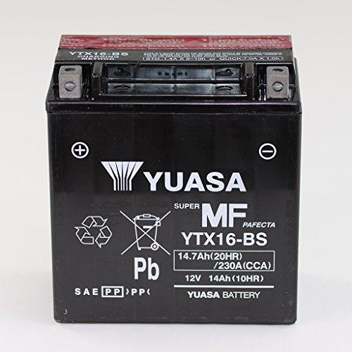 Batteria da 12 V 14 Ah YTX16-senza BS, manutenzione Yuasa DIN 51492 per Fuoco 500 M61   XL 1000 V Varadero SD02   VN 1500 D Classic VNT50D   VN 1500 G Classic Tourer vnt50gg   VN 1500 H Classic Tourer vnt50gh