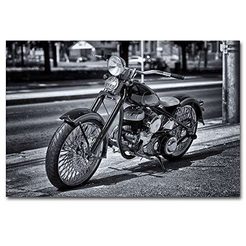 1000pcs_Adult Puzzle_Motocicleta clásica Retro_Rompecabezas de Paisaje ensamblado de Madera, Juguetes para Adultos, Juegos para niños, Juguetes educativos_50x75cm