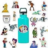 Futurama TV-Serie Aufkleber Cartoon Wasserdicht Philip J. Fry Aufkleber Auto Laptop Helm Gepäck Vintage Skateboard Wanddekoration Geschenk für Kinder (Futurama-Thema)