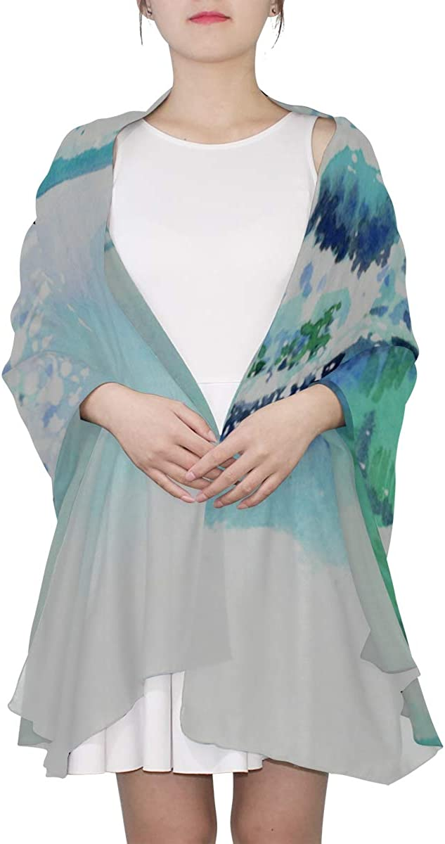 Cheap Scarfs For Women Blue Sea Weave Painting Art Baby Shawl Wrap Fashion Scarfs Women Lightweight Print Scarves Kids Scarfs Xl Scarfs For Women