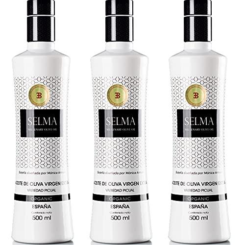 Aceite de Oliva Virgen Extra Gourmet. AOVE picual temprano Organic/Ecológico - Selma Millenary Olive Oil - Botella 500 ml. Diseñada por Monica Armani