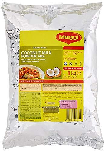 Maggi Mezcla de Leche de Coco en Polvo de Sri Lanka - Libre de Gluten, Colorantes Artificiales, Conservantes y Saborizantes para Platos al Curry y Pudín de Arroz de Coco - Bolsa de 1 kg