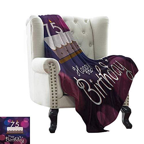 BelleAckerman Manta sofá de 70 cumpleaños, con Estampado Abstracto de Estrellas, Color Verde pálido y bermellón de Microfibra para Todas Las Estaciones, para Cama o sofá