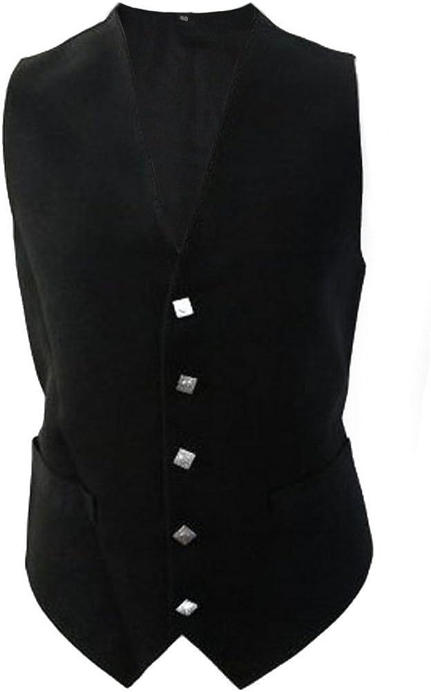 Tartanista Black Vest Waistcoat Size 52