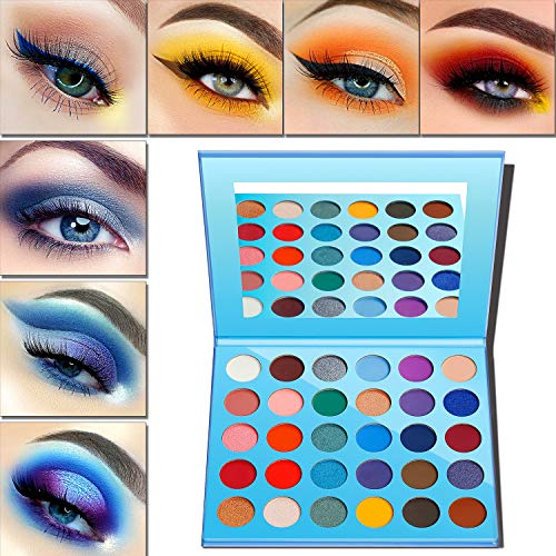 Lidschatten Palette Matt & Glitter,Eyeshadow Palette Afflano 30 Colors-Blue Pink Nude Red Rose Peach...