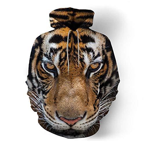 ASDFSADF Frühling und Herbst Schöne Tier 3D-Druck Wolf Tiger Übergroßer Hoodie Harajuku Street Hip Hop Hooded Sweatshirts Tops-style8._Asiatische Größe XL.