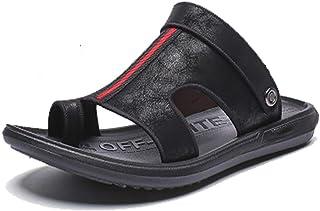 Uomo Mezza Peep Toe Sandali Pantofole in Pelle Piatta Anti Slid Leggero Scarpe da Spiaggia Fatte a Mano Calzature dAcqua per lattivit/à Estiva Bagno Sole Piscina Bagno Famiglia
