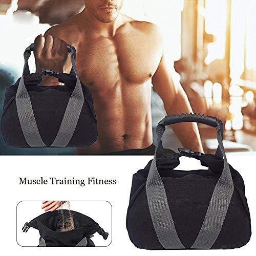 Levantamiento de pesas saco de arena pesado mujeres hombres saco de arena eléctrico entrenamiento ajustable gimnasio saco de arena para entrenamiento de fuerza funcional, ejercicios de carga dinámica