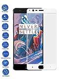 Todotumovil Protector de Pantalla OnePlus 3 Blanco Completo 3D Cristal Templado Vidrio Curvo para movil