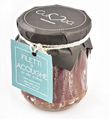 Filetti interi di Acciughe sotto olio Cuvea - 210 g