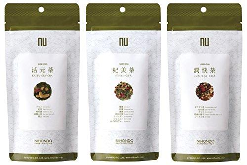 漢茶 温活美人 セット (3g×12包 3袋) 活元茶 妃美茶 潤快茶 ティーバッグ 健康茶 薬日本堂