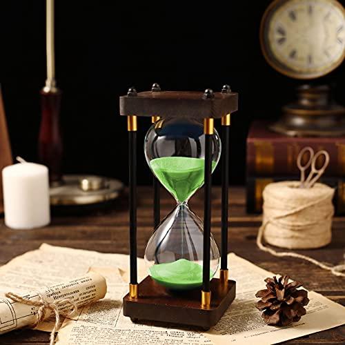 HDDH Reloj de Arena Temporizador30/60 Minutos,Reloj de Arena de Colores Herramienta de gestión del Tiempo para niños y Adultos (7 Colores)