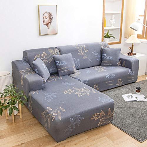Fsogasilttlv Funda Elástica para Sofá 3 plazas, Funda de sofá elástica para Sala de Estar, Funda de sofá Chaise Longue en Forma de L O 190-230cm
