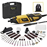 Rotary Tool, Ginour 170W Rotary Tool Kit Multi Tool with 114 Accessories and 4 Attachments 7 Variable Speed 8000-35000 RPM for Engraving Polishing Sharpening DIY Creations
