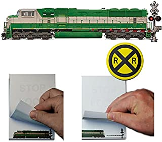 Train Safety Flip Book Animation Railroad Notebook Set 2 Flip Books and 2 R&R Sticky Notes Railroad
