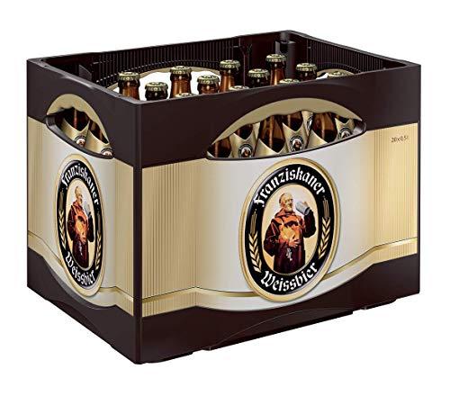 20 x levadura de cerveza Franziskaner blanco naturaleza nublada 0,5l 5,0% vol. caso original