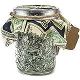 Pint Mason Jar Stuffed With Shredded US Currency Money - Creative Gift Card Holder