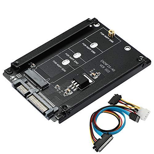 BEYIMEI M.2 NGFF zu SATA3, M.2 B-M Key SSD zu SATA Adapterkarte, kompatibel mit M.2 NGFF SSD: 2280, 2260, 2242, 2230,Unterstützt Windows/MAC/Linux