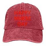 HOPPYS Gorra de béisbol unisex para el día de la enfermera con lavado de Papa Hut Cowboy Cap Denim Cap, rosso, Talla única