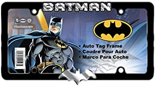 DC Comics Chrome and Black Metal Batman License Plate Frame - Single