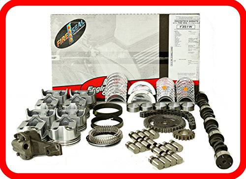Master Engine Rebuild Kit FITS: 67-85 Chevrolet SBC 350 5.7L V8 w/Stage-3 HP Cam & Flat-Top Pistons