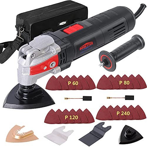 Dobetter Oscillating Tool, 3.5Amp Oscillating Multitool, Oscillating Saw with 6 Variable Speed 4.5° Oscillation Angle, Carry Bag and Accessories -DBOT3545