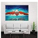 Gigoo Michael Phelps Kunst Leinwand Poster Malerei Wand
