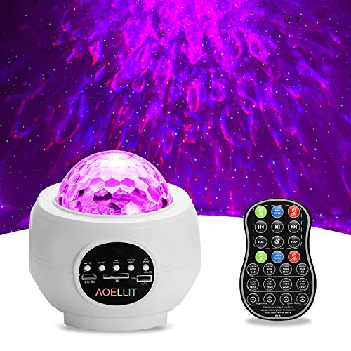 Star Projector AOELLIT Galaxy Light Projector Skylight for Bedroom Ceiling Nursery Decoration, LED Starlight Sky Light Starry Night Light Planetarium Nebula Cove Projector for Kids and Adults, White
