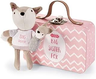 Mud Pie Kids Girl Fox-In-A-Box in Suitcase Big Sister 4.5