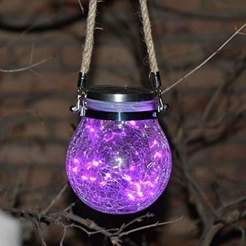 LED-Solarweihnachtslicht, Im Freien Solar-Glasflasche Licht, Burst-Kugel-Glas-Glas-Licht-Garten-Dekoration-Baum-Licht-Stern Copper Wire Light