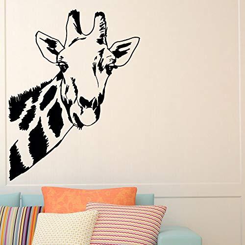 Opprxg Artista decoración del hogar Jirafa Safari Selva Animal Salvaje Mural Vinilo Adhesivo 100X130cm