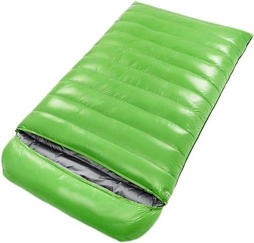 Double Sac de Couchage, Sac de Couchage d'enveloppe de Sac de Couchage épaisse pour Quatre Saisons en Plein air (Couleur   vert, Taille   1.5KG)