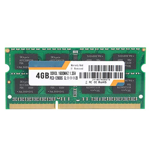 Modulo Memoria RAM per PC, DDR3L 4GB 1600MHz RAM Memory Bank per PC3-12800 Notebook, Laptop