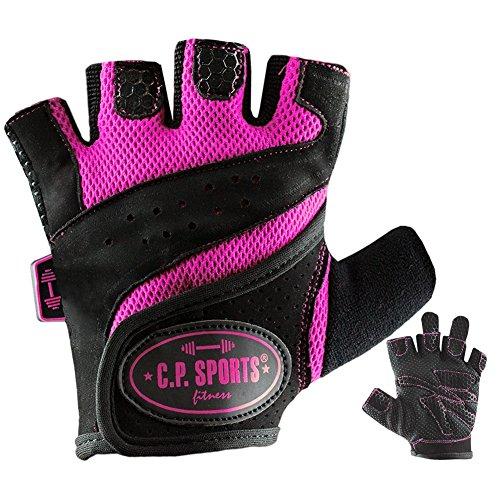 Lady Fitness Handschuhe (M), Frauen Trainings-Handschuh, Damen Fitnesshandschuh Pink F9-3 CP Sports