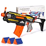 X TOYZ Motorized Blaster, Electric Blaster Shooting Gun, 30 Official Darts Compatible with Nerf Guns, 1 Butt and 1Dart Clip, Toy Gun Set for Kids 6+Age Birthday Christmas Easter Day Gift