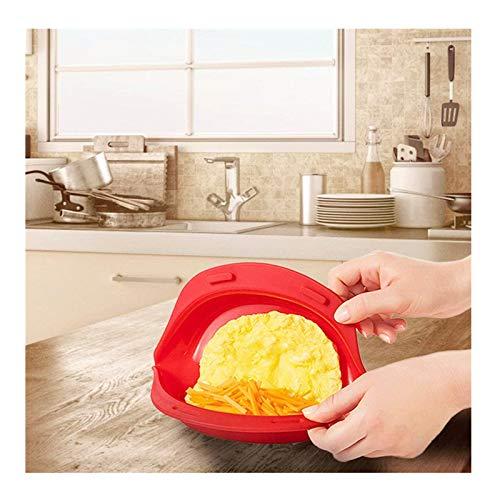 Blssom Omelette Maker Mikrowelle,Silikon Omelette Maker, Spiegelei Rührei Maker Eiocher Mikrowelleerk Pochierte Eier Maker,Rührei Maker Eierkocher Spiegelei pochierte Eier Omelett für Mikrowelle