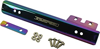 JDMSPEED Universal Neo Chrome Front Bumper License Plate Mount Bracket Relocator Holder Bar