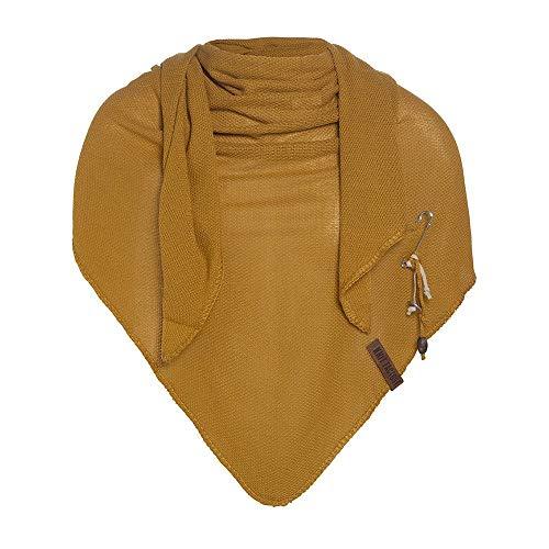Knit Factory Damen Schal LOLA - Dreieck Schal 190 x 85 cm (Oker)