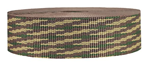 Strapworks Heavyweight Polypropylene Webbing - Heavy Duty Poly Strapping for Outdoor DIY Gear Repair, 1.5 Inch x 10 Yards, Woodland Camo