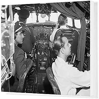 Media Storehouse 20x16 Canvas Print of Lockheed Constellation Cockpit (1569955)