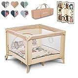 Lionelo Sofie 3 in 1 Box bambini pieghevole box neonati lettino da viaggio dalla nascita fino a 15 kg con entrata laterale borsa per il trasporto, beige