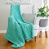 AVAFORT Hand-Made Luxury Knit Chunky Throw Blanket Premium Boho Home...