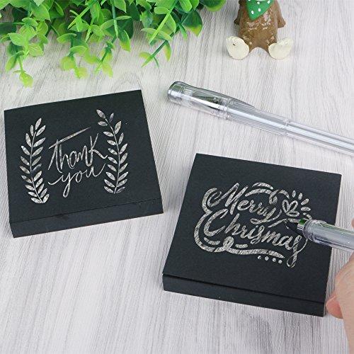 Eagle schwarz Sticky Notes, 7,6 x 7,6 cm, 100 Blatt/Pad, 2 sticky notes+2 gel pens